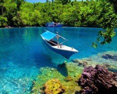 Sulamadaha Water Clarity Beach in Ternate, North Maluku Indonesia