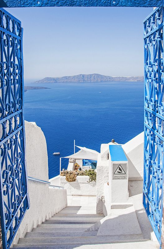 Stunning View from Santorini Greece