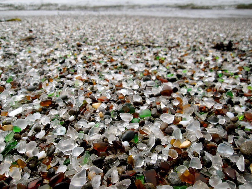 unique glass beach from california